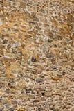 Oude steenmuur van een overzeese vesting Metselwerk van oude stenen en bakstenen Mooie achtergrond Stock Foto's