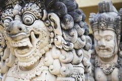 Oude steenstandbeelden in Bali, Indonesië Royalty-vrije Stock Afbeeldingen