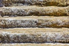Oude steenstappen stock afbeeldingen