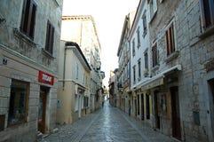 Oude stenenstraten in Dubrovnik Kroatië Stock Fotografie