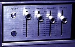 Oude Stereo-installatie Royalty-vrije Stock Foto