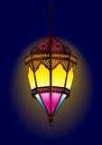 Oude stijl Arabische lamp voor ramadan/eid stock illustratie
