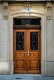 Oude stijl houten deur Royalty-vrije Stock Afbeelding