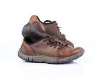 Oude stijl toevallige schoen op wit Royalty-vrije Stock Foto's