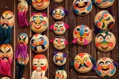 Oude stijl Vietnamese decoratieve Maskers. Royalty-vrije Stock Afbeeldingen