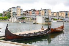 Oude stijl Viking stock afbeeldingen