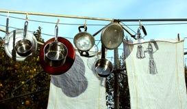 Oude stijlafwasmachine stock foto's