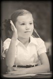Oude stijlfoto van elementaire leeftijd Royalty-vrije Stock Afbeeldingen