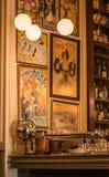 Oude Stijlkoffie in Baku Royalty-vrije Stock Afbeeldingen