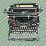 Oude stijlschrijfmachine op retro achtergrond Stock Foto