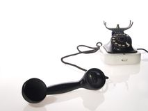 Oude stijltelefoon stock afbeeldingen
