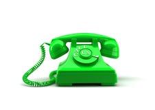 Oude stijltelefoon met vraag ons woorden het 3d teruggeven Stock Afbeelding