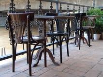 Oude stoelen Stock Afbeelding