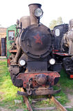 Oude stoomlocomotief Stock Fotografie