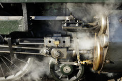 Oude stoomlocomotief, wielen Royalty-vrije Stock Afbeelding
