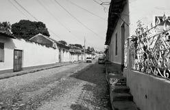 Oude straat Stock Afbeeldingen