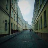Oude straat Stock Afbeelding