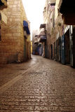 Oude straat in Bethlehem Stock Afbeelding