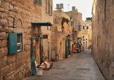 Oude straat in Bethlehem Palestijnse gebieden israël royalty-vrije stock foto's