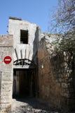 Oude straat in de stad van Rhodos Royalty-vrije Stock Foto's