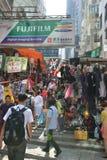 Oude Straat in Hong Kong Stock Foto