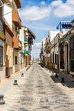 Oude straat in Isla Cristina royalty-vrije stock fotografie