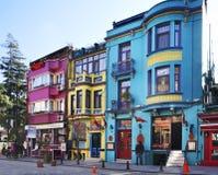 Oude straat in Istanboel Turkije Stock Foto's