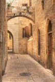 Oude straat in Jeruzalem, Israël. Stock Fotografie