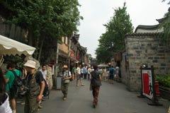 Oude straat in Jinli Royalty-vrije Stock Foto
