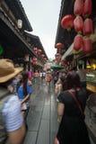 Oude straat in Jinli Royalty-vrije Stock Foto's