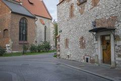 Oude straat in Krakau Stock Foto