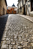 Oude straat in Krakau, Polen. Royalty-vrije Stock Fotografie