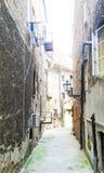 Oude straat in Kroatië stock foto