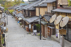 Oude straat in Kyoto, Japan royalty-vrije stock afbeelding