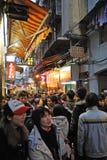 Oude straat in Macao Stock Foto