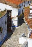 Oude straat, Obidush, Portugal royalty-vrije stock fotografie