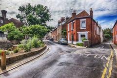 Oude straat op het leven gebied in Canterbury Stock Afbeelding