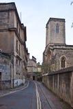 Oude straat in Oxford, Engeland, het UK Stock Afbeeldingen