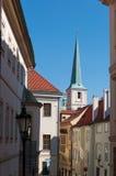 Oude Straat in Praag Royalty-vrije Stock Foto