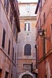 Oude straat in Rome, Italië Royalty-vrije Stock Fotografie