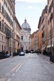 Oude straat in Rome, Italië Stock Afbeeldingen