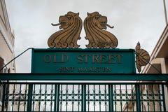 Oude Straat Sint Maarten Stock Foto
