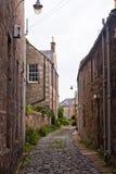 Oude straat in St Andrews, Schotland, het UK Royalty-vrije Stock Afbeeldingen