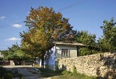 Oude straat in Trebujeni moldova royalty-vrije stock foto's