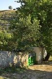 Oude straat in Trebujeni moldova royalty-vrije stock foto