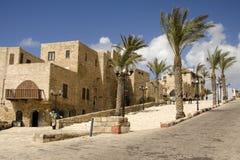 Oude straat van Jaffa Stock Afbeeldingen