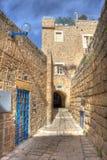 Oude straat van Jaffa, Israël. royalty-vrije stock afbeelding