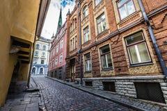 Oude Straat van Tallinn Estland Royalty-vrije Stock Fotografie