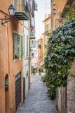 Oude straat in Villefranche-sur-Mer Stock Foto