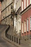 Oude straat in Warshau Stock Foto's